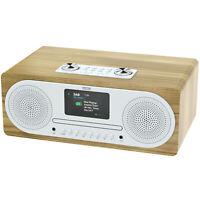 Azatom DAB+ FM Radio CD Bluetooth Alarm Mobile charger Speaker Clockwood Oak
