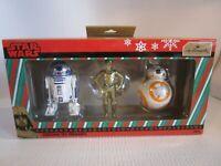 Hallmark Star Wars R2-D2, BB-8 & C3P0 Christmas Ornaments Box Set of 3