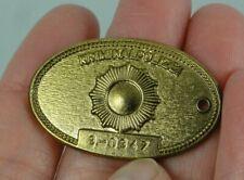 """Gold Tone Badge Medal Criminal Police Gode Kriminalpolizei Berlin { Ddr } 1-3/8"""""""