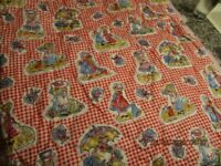 4 YDS VINTAGE HOLLY HOBBIE QUILTED FABRIC FROM THE 70'S