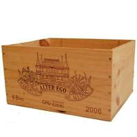 1 X GENUINE FRENCH WOODEN WINE BOX - CRAFT SUPPLIES BOX FOR SEWING / TAPESTRY