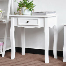 Hallway White Drawer Side Console Table Storage Dressing Desk Kitchen Hall Table