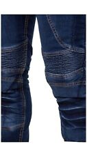 Motorcycle Jeans With Removable Armour Knee/Hip Protectors. Aramid Fabric-New