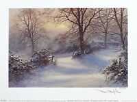 "DAVID DIPNALL ""Seasons - Winter"" countryside SGD LTD ED SIZE:26cm x 35cm NEW"