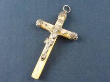 Ancienne croix de communiant en nacre et argent
