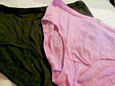 f873bd1fe2df New 2 Hanes Brief Panties Size XL ~Lavender/Purple & Black Cotton Blends