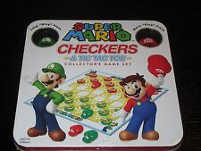 Super Mario Checkers & Tic Tac Toe Collector's Game Set - NEW