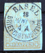 Schweiz 16 II A ym Sitzende Helvetia 20 Rp. Vollstempel Basel Mi. 200,00 € used