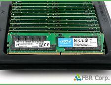 MINT 32GB Micron Crucial DDR4 PC4 2666V 2RX4 RAM Memory MTA36ASF4G72PZ-2G6D1 LOT