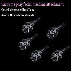 5 PCS Gourd Vacuum Spray Part Ventouse Glass Tubes For Vacuum Spray SPA  Machine