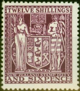 New Zealand 1935 12s6d SGF156 Superb Very Lightly MM