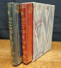 GRAY'S ELEGY / LETTERS BY LORD CHESTERFIELD MINIATURE LEATHER BOOKS IN SLIPCASE