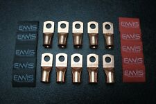 The Install Bay CUR2038 Copper Non-Insulated 2//0 Gauge 3//8/' Ring Terminal 5//pk
