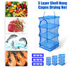 3 Layer Plant Herb Dry Net Drying Rack Beef Jerky Vegetable Fish Meat Dehydrator
