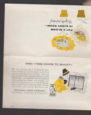 Dutch Boy Nalplex Paint Brochure 1957 w paint Samples