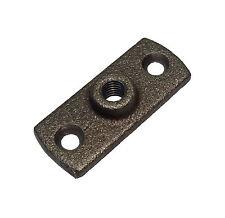 Conector Hembra De Hierro Negro M10 (10mm)/Placa de pared | Uso Con Clips De Tubería Anillo Munsen
