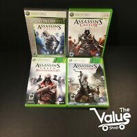 Microsoft Xbox 360 Assassins Creed Video Game Lot (4 Games)