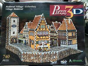 3d Puzzle Medieval Village Rothenburg 740 pieces Wrebbit