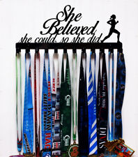 She Believed She Could So She Did - Racing Medal Holder - Color Options
