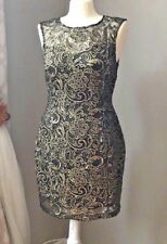 Ladies Lipsey Black & Gold Lace brocade fancy dress US Size 8,  New with tags