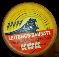 O HO TT  KWK Leitungs Bausatz Modellbahn Kabel 50' 60' Jahre DDR LEERE Pappdose