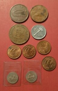 Collection Of World Coins including: Mexico, Ireland, New Zealand, PNG and Fiji