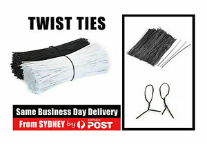 Metallic Twist Ties Plastic Cable Cord Ties Reusable Packaging Wire Candy AU