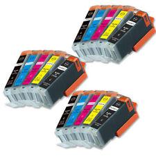 15 PK Printer Ink chipped for PGI-250XL CLI-251XL Canon MG5522 MG5622 MG6622