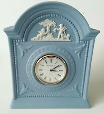 Wedgwood Cherub Mantle Clock Blue Jasperware Working