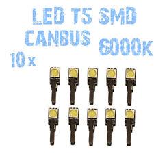N° 10 Gloeilampen LED T5 Wit 6000K SMD 5050 Koplampen Angel Eyes DEPO FK 12v 1B3
