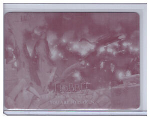 2016 Hobbit Battle of the Five Armies YOU ARE FORSAKEN #10 PRINTING PLATE 1/1