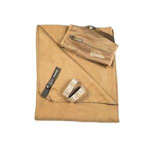 Gear Aid McNett Tactical Ultra Compact Microfiber Towel & Bag Coyote Brown Large