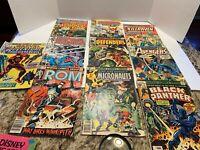 Lot 10 Marvel Comic Books Avengers, Captain America, The Defenders 1975-1977