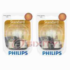 2 pc Philips Back Up Light Bulbs for Nissan Almera March Micra NP300 NP300 wo
