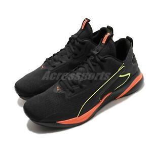 Puma Softride Rift Tech Black Ultra Orange Men Running Shoes Sneakers 193737-02