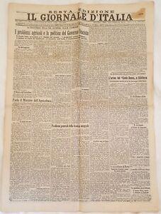 IL GIORNALE D'ITALIA 19 FEBBRAIO 1931 SNOWDEN FAUSTI FABRIANO MONTE BOVE AZNAR