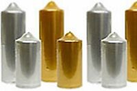 Gold and Silver Candles, different sizes and formats metallic colors Made in USA