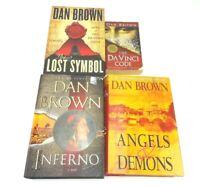 Dan Brown Books Inferno Angels & Demons Da Vinci Code Lost Symbol Lot Of 4 Used