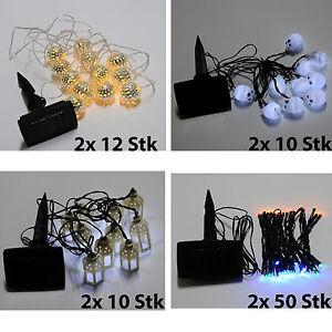 2X LED Solar Lichterkette , Solar Powered Garten Solar Beleuchtung party