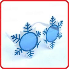 SNOWFLAKE SNOW GLASSES SUNGLASSES-SKI SNOWMAN SNOWBOARD HOLIDAY-CHRISTMAS-PARTY