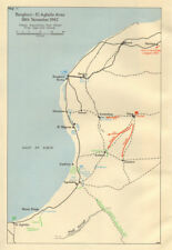 Benghazi-El Agheila area. 18 Nov 1942. Libya North Africa World War 2 1966 map