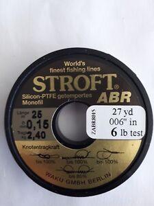 1 spool of STROFT ABR monofil  27yd 6lb test Light Brown Transp.