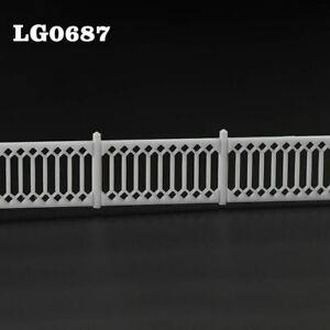 3pcs/6pcs Model Railway Diarama 1:87 Building Fences HO OO Scale Wall White