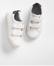 SZ 5 6 7 9 10 BABY GAP KIDS White Performance Sneakers Sneaks Boy Toddler NWT