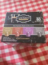 Cafe Turino Italian Style Espresso/Nespresso Coffee Capsules - 80 Pieces