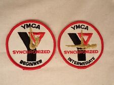 Vintage Embroidered YMCA Swimming Patches Synchronized Swimming