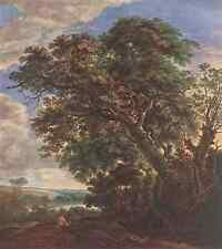 VLIEGER Simon de Landscape With River And Trees A4 Photo Print