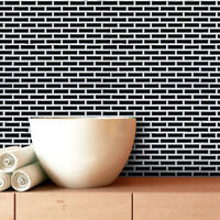 "3D Brick Tile Wall Paper Self-adhesive Kitchen Wall Sticker Waterproof 9.2""x11"""