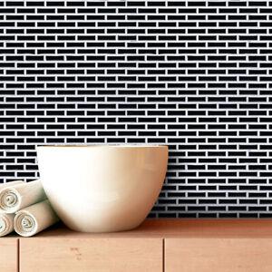 "3D Brick Tile Wall Paper Self-adhesive Kitchen Wall Sticker Waterproof 9.2""x11"""