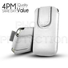 MAGNET BUTTON LEATHER PULL TAB CASE COVER POUCH FOR VARIOUS BLACKBERRY PHONES